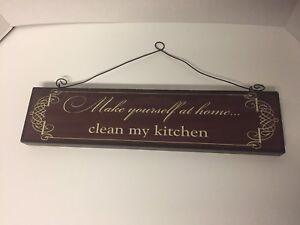 Funny Kitchen Sign Decor