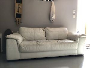 Freedom furniture leather couch/sofa