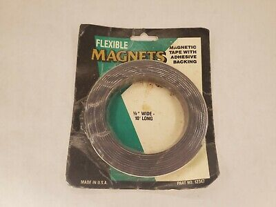 Flexible Magnets Magnetic Tape 12 X 10 Long With Adhesive Backing Msi