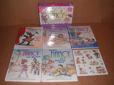 Lot of 5 Fancy Nancy Books & Stickers Treasure Box Jane O'Connor Hardcover NEW