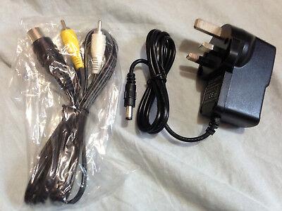 Sega Megadrive / Master System Power Supply and AV Lead Bundle NEW