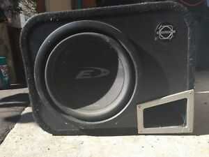 "Alpine 10"" subwoofer and box"