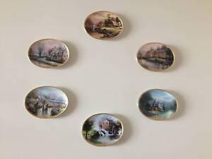 Thomas Kinkade 6 Lamplight wall plates Bundall Gold Coast City Preview
