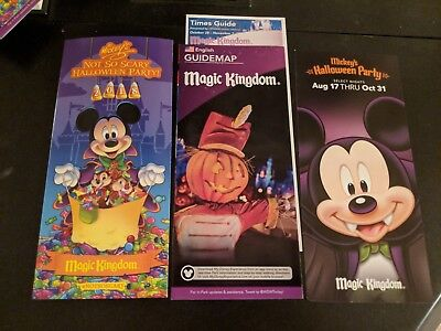 Disney World Mickey's Not So Scary Halloween Party 2018,Park Map, times guide](Disney World Mickey Mouse Halloween Party)