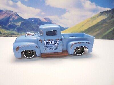 56 FORD TRUCK   2017 Hot Wheels Hot Trucks Series    Blue   (K-Mart)