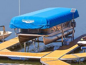 Shoremaster and Hewitt boat lifts on sale. Truck load
