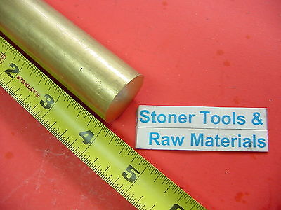 1 Diameter Brass C360 Round Rod 4 Long H02 New Solid Lathe Bar Stock 1.00x 4