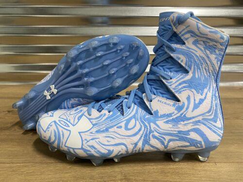 UNDER ARMOUR HIGHLIGHT LUX MC FOOTBALL CLEATS 1297953-413 11.5 9.5 CAROLINA BLUE