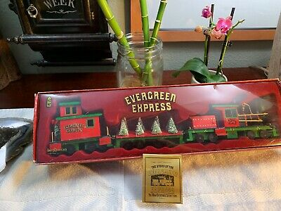 Vintage 1986 Christmas MUSIC Box Train SET Rare Pristine Shape Holiday Display