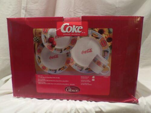 "COCA-COLA 16 PIECE DINNERWARE SET BY GIBSON ""GOOD OL"