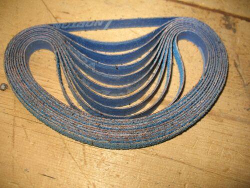 "10- 1/2 x 18"" Z-40 Grit Norton Norzon Zirc. sanding belts Dynafile sander style"
