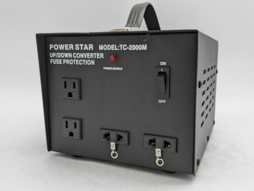 Power Star TC-2000M Up/ Down Converter - Fuse Protection - 2000W -NR3584