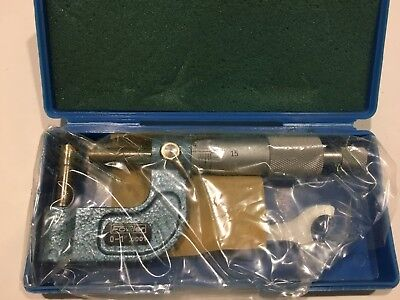 Fowler 52-510-601 Cylindrical Tube Micrometer 0-1 Range .0001 Graduation