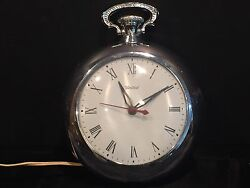 Vintage United Electric Pocket Watch Wall Clock