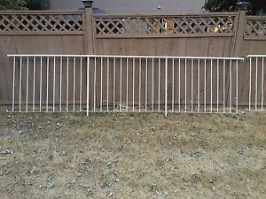 White metal railing sections