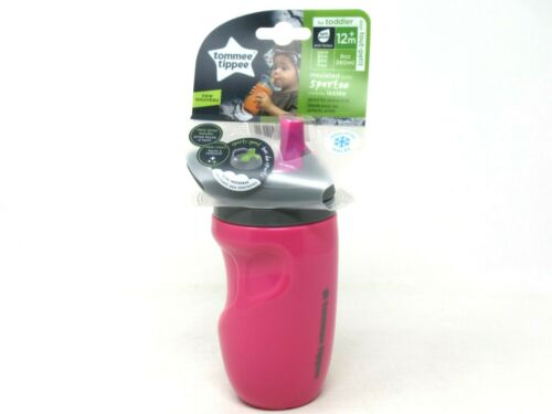 Tommee Tippee Insulated Sportee Sippy Cup 9 oz Toddler 12+ Month Pink BPA Free