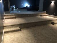 Flooring installations; Carpet, Laminate and Hardwood Installs