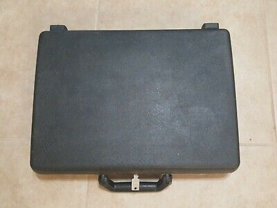 Vintage Samsonite Hard Shell Slim Line Thin Briefcase Attache With Key