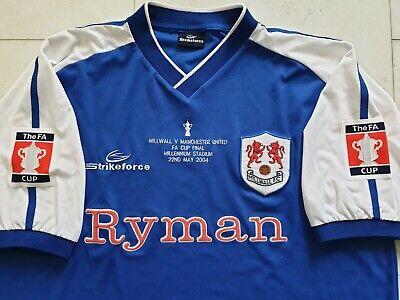 Millwall FA CUP Final Shirt 2004 - Cardiff - Millwall v Manchester Utd image
