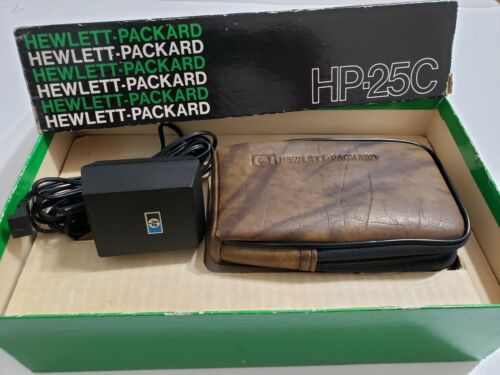 Boxed  HP 25C Hewlett Packard Calculator in excellent condition
