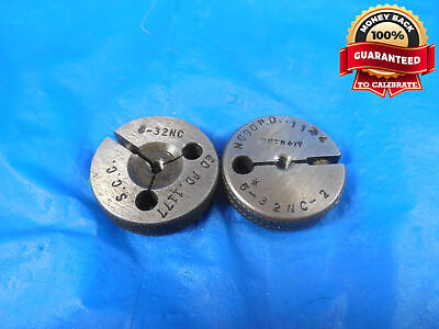 6 32 Nc 2 Thread Ring Gages 6 .138 Go No Go P.d.s .1177 .1144 Tool 6-32