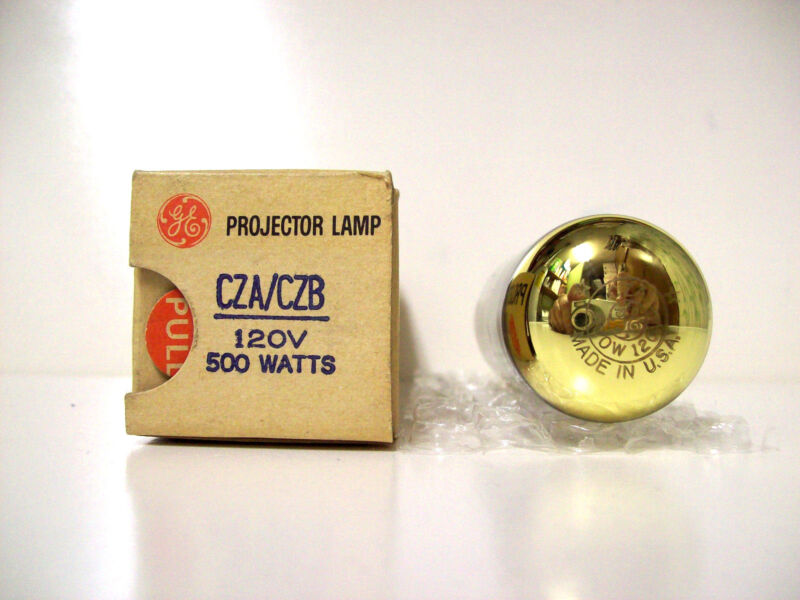 "CZA - CZB Projector Projection Lamp Bulb 500W  ""GOLD TOP"" GE  *AVG 25-HOUR LAMP*"