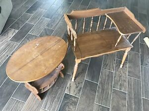 Pair of antique tables
