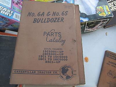 Caterpillar Vintage Parts Book 6a 6s Bulldozer
