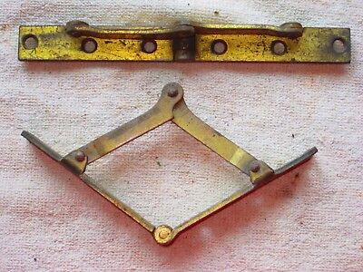 2 VINTAGE LID SUPPORT HINGES