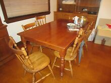solid wood table and 6 chairs Mosman Mosman Area Preview