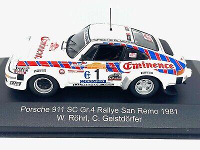 1:43 Scale CMR Replicars Porsche 911 SC Rally Car - W Rohrl 1981 Diecast Model
