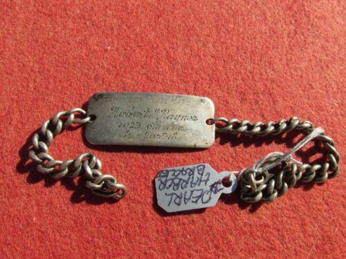 Remember Pearl Harbor Bracelet   named to San Francisco Veteran