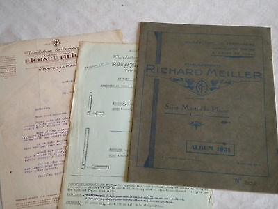 Vintage Catalogue Brochure 1931 Richard Meiller Chains metalware Forgeware