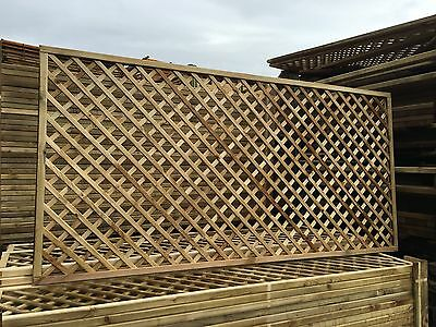 6x4 Elite Alderley Diamond Trellis 183x120 Garden Lattice Fence Topper Climbing
