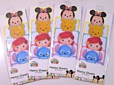 Disney Tsum Tsum Memo Sheets ( @16 sheets/bag) Lot of 4 bags for Sale (NEW)