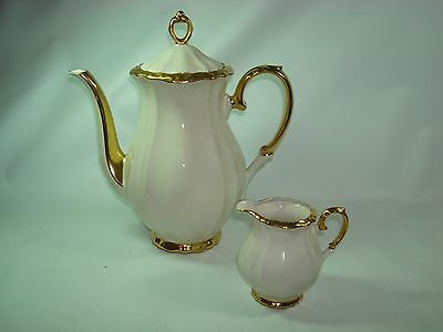 Vintage Bareuther Bavaria Porcelain Coffee Pot and Creamer