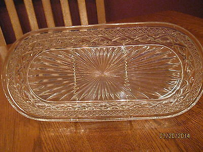 Imperial Glass Vintage Cape Cod Pressed Glass Celery Dish