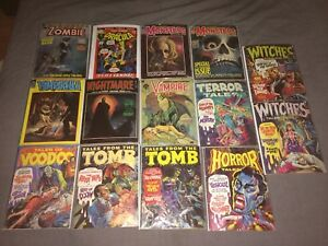 Lot of 60's and 70's Horror Comics