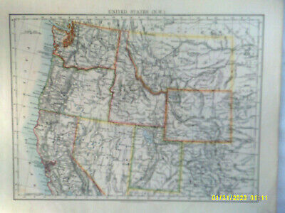 Double-sided Antique Map. UNITED STATES. (N.W.) & (N.W. CENTRAL). 1895.