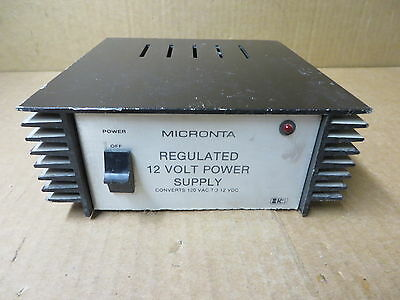 Micronta Regulated 12v Dc Power Supply 22-120 Vintage Electronic Equipment