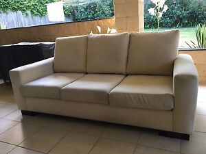 3 seater fabric sofa Eastwood Ryde Area Preview