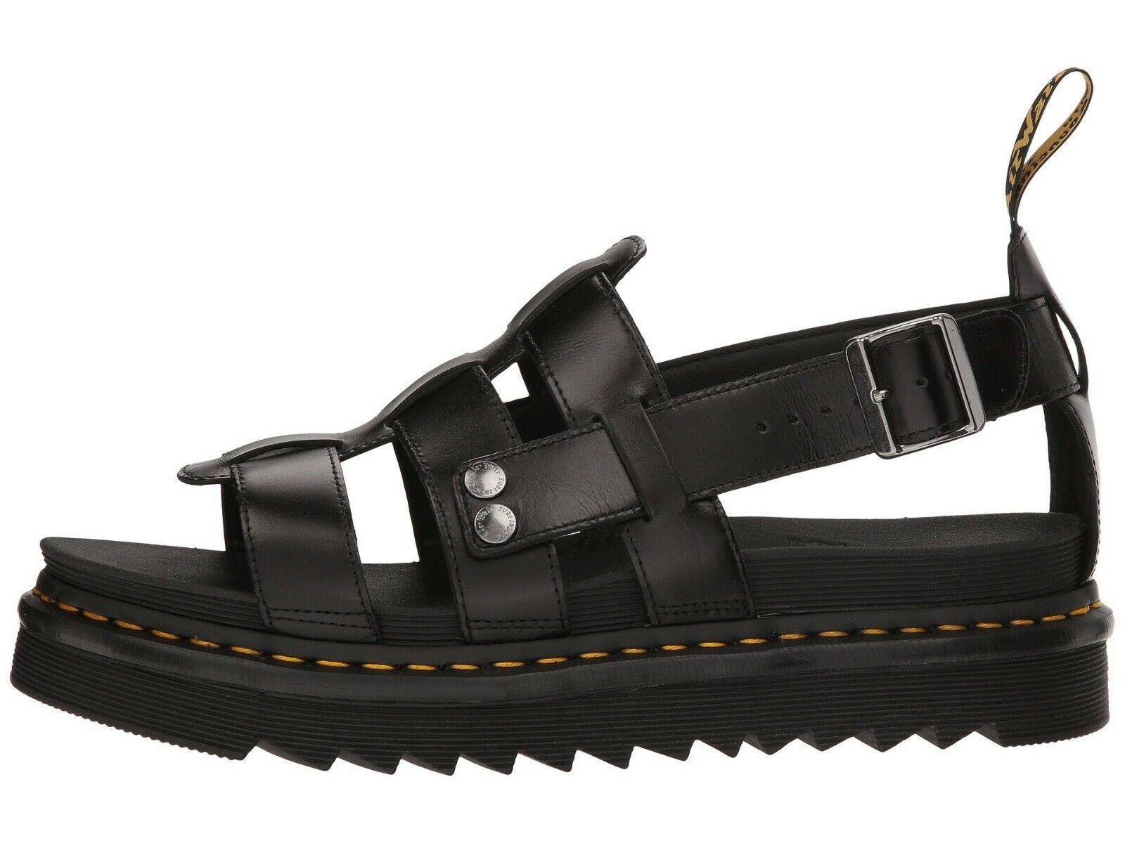 Men's Shoes Dr. Martens TERRY Leather Fisherman Sandals 23521001 BLACK BRANDO 1