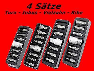 28 tlg. Torx Vielzahn Ribe Inbus Stecknuss Set Steckschlüssel Bits Satz Y410-18