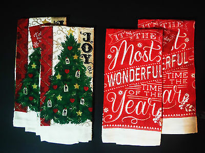 TOWEL SET CHRISTMAS TOWEL SET (2) VARIATION ''MOST WONDERFUL TIME OF THE YEAR''  (Halloween Most Wonderful Time)