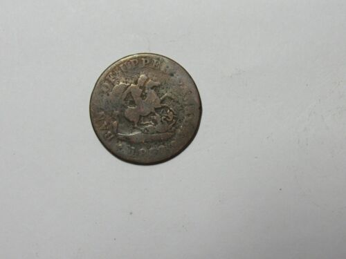 Old Canada Token - Upper Canada St. George - 1850-57 Half Penny -Dateless, spots