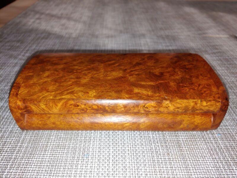 花梨瘿木盒Antique Huali Burl wood Watch Jewelry Cigar Box Home Office Artwork Decor
