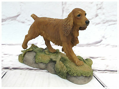 Teviotdale Cocker Spaniel (Tan) Figurine. TV0426. Made in Scotland