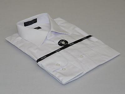 Mens Milani dress shirt soft cotton Blend easy wash business long sleeves - Cotton Mens Dress Shirt