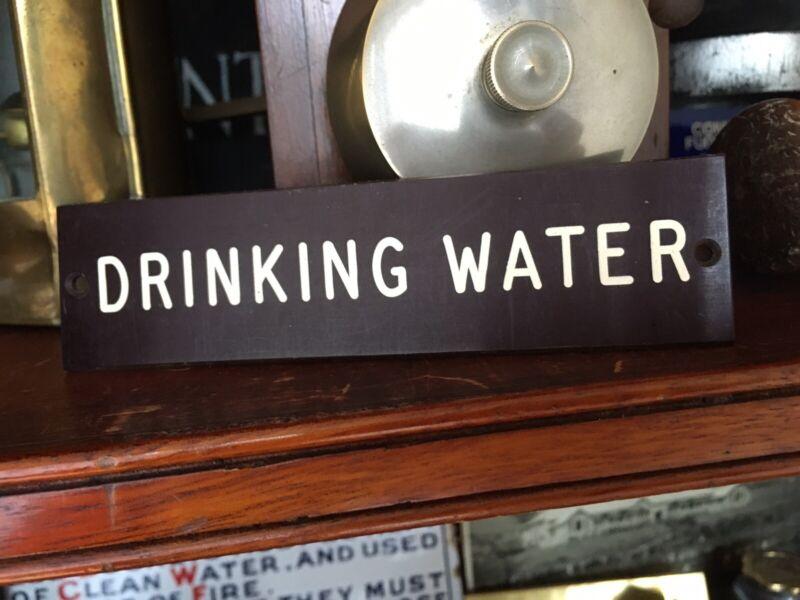"Vintage Rare Asylum Bakelite Sign ""DRINKING WATER"""