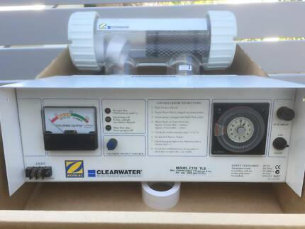 SALT CHLORINATOR ZODIAC CLEARWATER C140T INCL BRAND NEW CELL $550